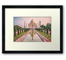 Taj Mahal at Sunrise Framed Print