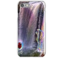 Rainbow Bubbles at Noccalula Falls iPhone Case/Skin