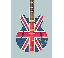 Oasis Union Jack Guitar (Eggshell) Photographic Print