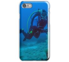 Diver and Roman Anchor iPhone Case/Skin