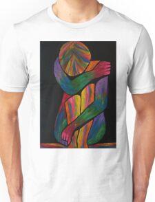 Sorrowful Shrug Vivid Female Abstract Unisex T-Shirt