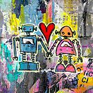Graffiti Pop Robot Love by Roseanne Jones