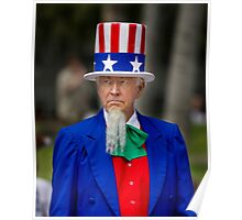 Uncle Sam at the St. Patrick's Day Parade Poster