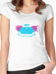 t-birdy with abstract wings Women's Fitted Scoop T-Shirt