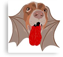 Bat Dog! Vampire Puppy Cartoon Monster Canvas Print