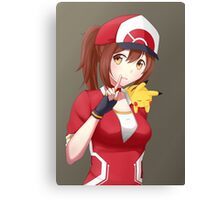 Pokemon GO female trainer with sleepy Pikachu Canvas Print