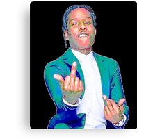 A$AP ROCKY w/ Middle Fingers Up Canvas Print