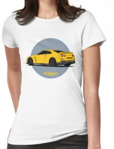 Nissan GT-R (yellow) Womens Fitted T-Shirt