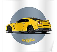 Nissan GT-R (yellow) Poster