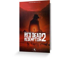 Red Dead Redemption 2   Poster Greeting Card