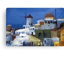 symphony in white and blue Canvas Print