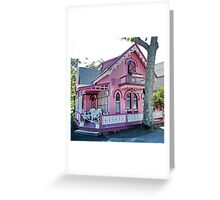 Pink Gingerbread House Greeting Card