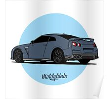 Nissan GT-R (silver) Poster
