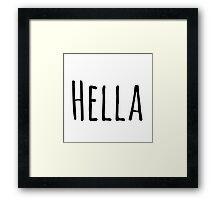 Hella Framed Print