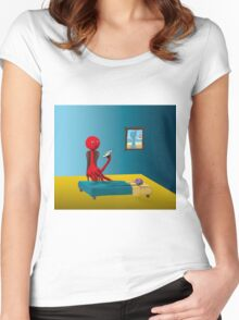Rennie's Bedtime Story Women's Fitted Scoop T-Shirt