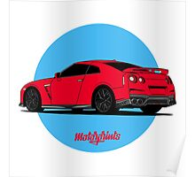 Nissan GT-R (red) Poster