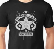 Monochrome Shooting Stars Unisex T-Shirt