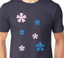 Cherry Blossoms (pink and blue) Unisex T-Shirt