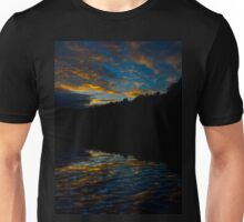 A Rippled Sunrise Reflection Over The Bosque Unisex T-Shirt