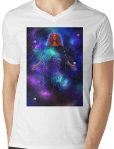 Goddess of Galaxies Mens V-Neck T-Shirt