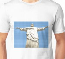 Christ The Redeemer - Blue Unisex T-Shirt