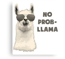 No Problem Llama Canvas Print