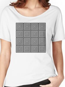 Square Tiles Women's Relaxed Fit T-Shirt