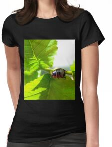 Patterned Beetle Womens Fitted T-Shirt