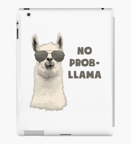 No Problem Llama iPad Case/Skin