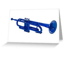Blue Trumpet Greeting Card