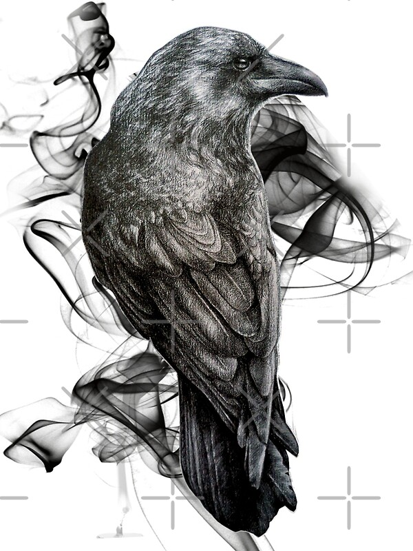Odin s ravens tattoo ideas raven crow tattoo odins ravens norse - Quot Crow Gothic Bird Raven Realism Drawing Sketch Tattoo Quot By