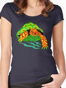 The Creeping Menace Terrifying Turtle Women's Fitted Scoop T-Shirt