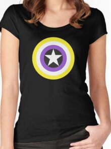 Pride Shields - Nonbinary v1.2 Women's Fitted Scoop T-Shirt