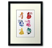 Princesses - Castle Framed Print