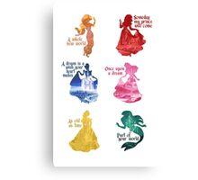Princesses - Castle Canvas Print