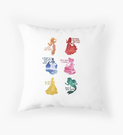 Princesses - Castle Throw Pillow