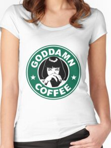 Goddamn Coffee Women's Fitted Scoop T-Shirt