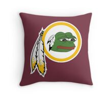 Redskins pepe Throw Pillow