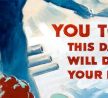 Vintage poster - Do Your Duty Sticker