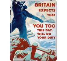 Vintage poster - Do Your Duty iPad Case/Skin