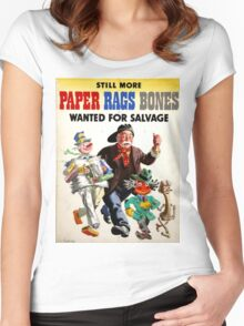 Vintage poster - War at Home Women's Fitted Scoop T-Shirt