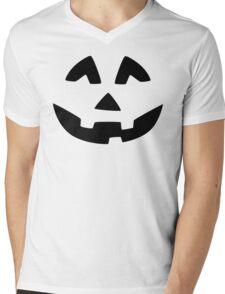 Cute Jack O'Lantern Face Mens V-Neck T-Shirt