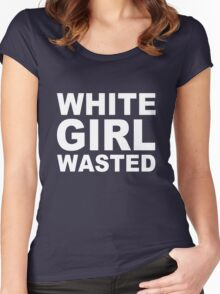 White Girl Wasted Women's Fitted Scoop T-Shirt