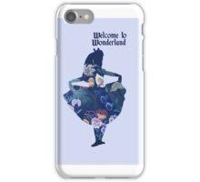 Welcome to Wonderland - Blue iPhone Case/Skin