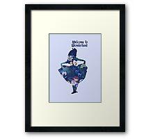 Welcome to Wonderland - Blue Framed Print
