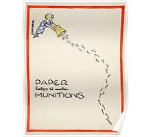 Vintage poster - Paper Helps to Make Munitions Poster