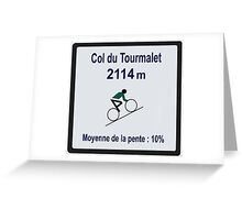 Col du Tourmalet Sign Tour de France Cycling Greeting Card