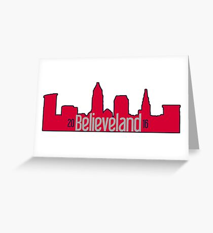 Believeland Cleveland Indians 2016 Greeting Card