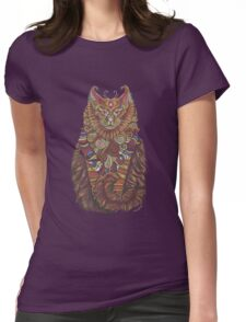 Maine Coon Cat Totem Womens Fitted T-Shirt