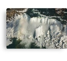 Aerial View of Niagara Falls with Snow and Ice Canvas Print